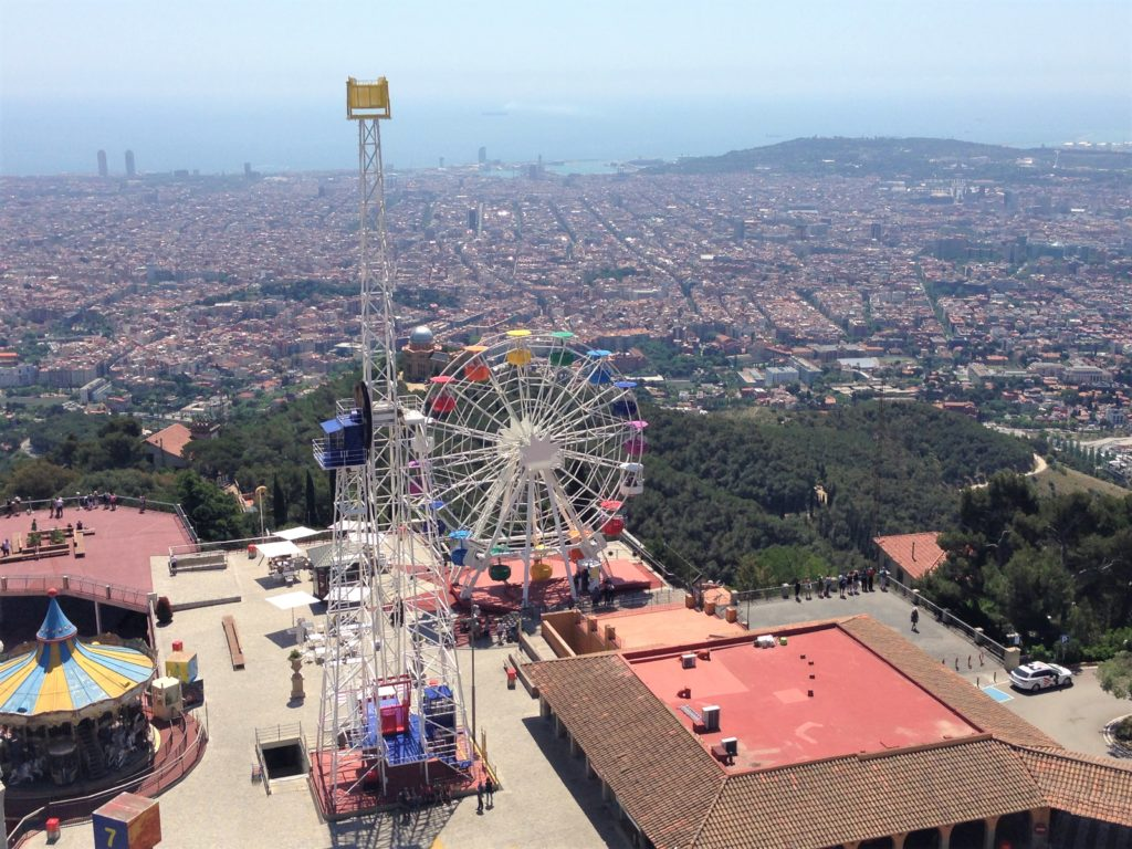 Fountain of Travel The Best View in Barcelona Tibidabo Amusement Park