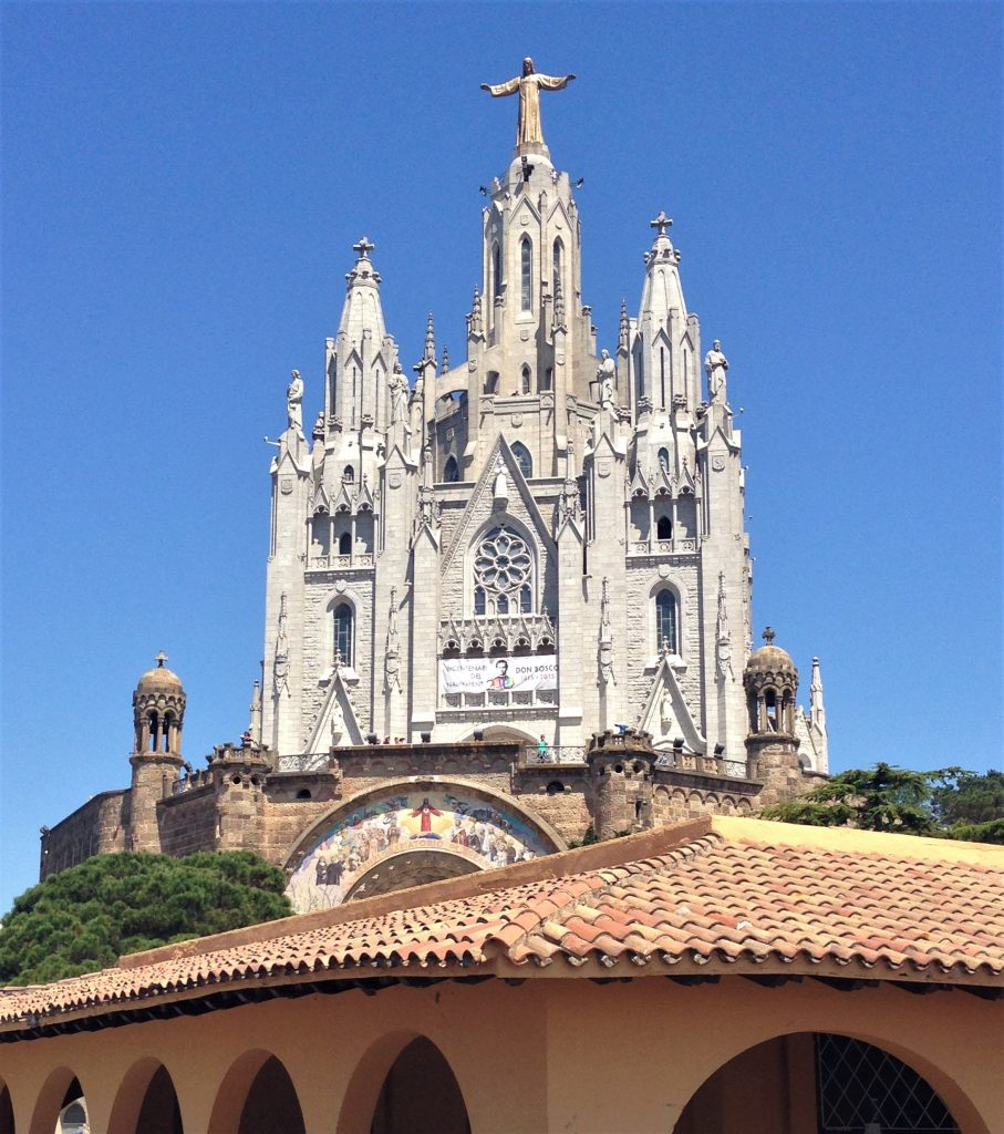 Fountain of Travel The Best View in Barcelona Tibidabo Sagrat Del Cor Jesus