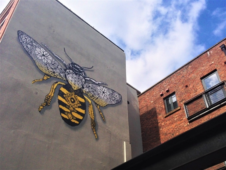 Fountain of Travel Manchester Northern Quarter Bee Street Art