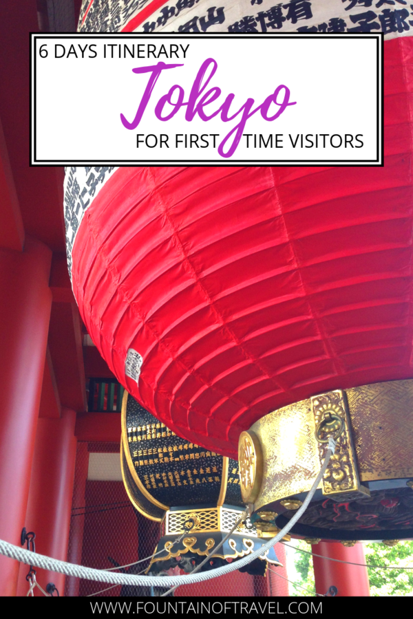 Fountain of Travel 6 Day Tokyo Itinerary