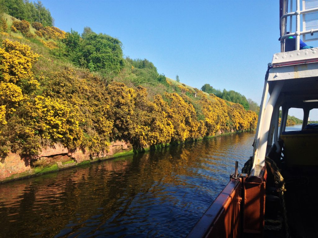 Fountain of Travel How to Cruise Down Manchester Ship Canal View Behind The Boat