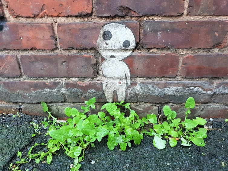 Fountain of Travel Free Things To Do in Manchester Northern Quarter Street Art Little Alien