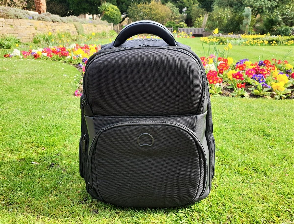 Fountain of Travel Delsey Quarterback Premium Backpack A Crazily Detailed Review Backpack and Flowers