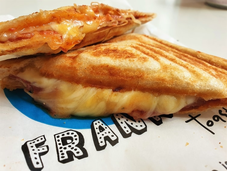 Fountain of Travel New and Cool Places to Eat in Manchester Frankies Calzone Toastie
