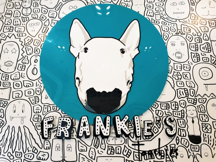 Fountain of Travel New and Cool Places to Eat in Manchester Frankies Toasties Dog Logo